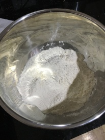 8oz flour, 0.5 tsp salt, 1.5 tsp sugar