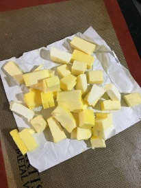 8 oz cold butter, cubed